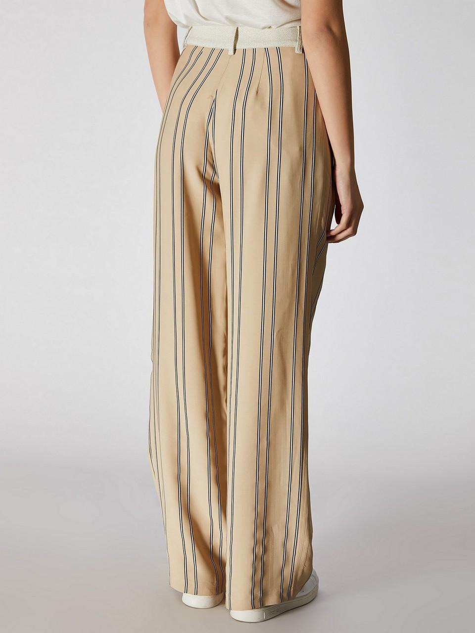 Çizgili Geniş Paça Pantolon