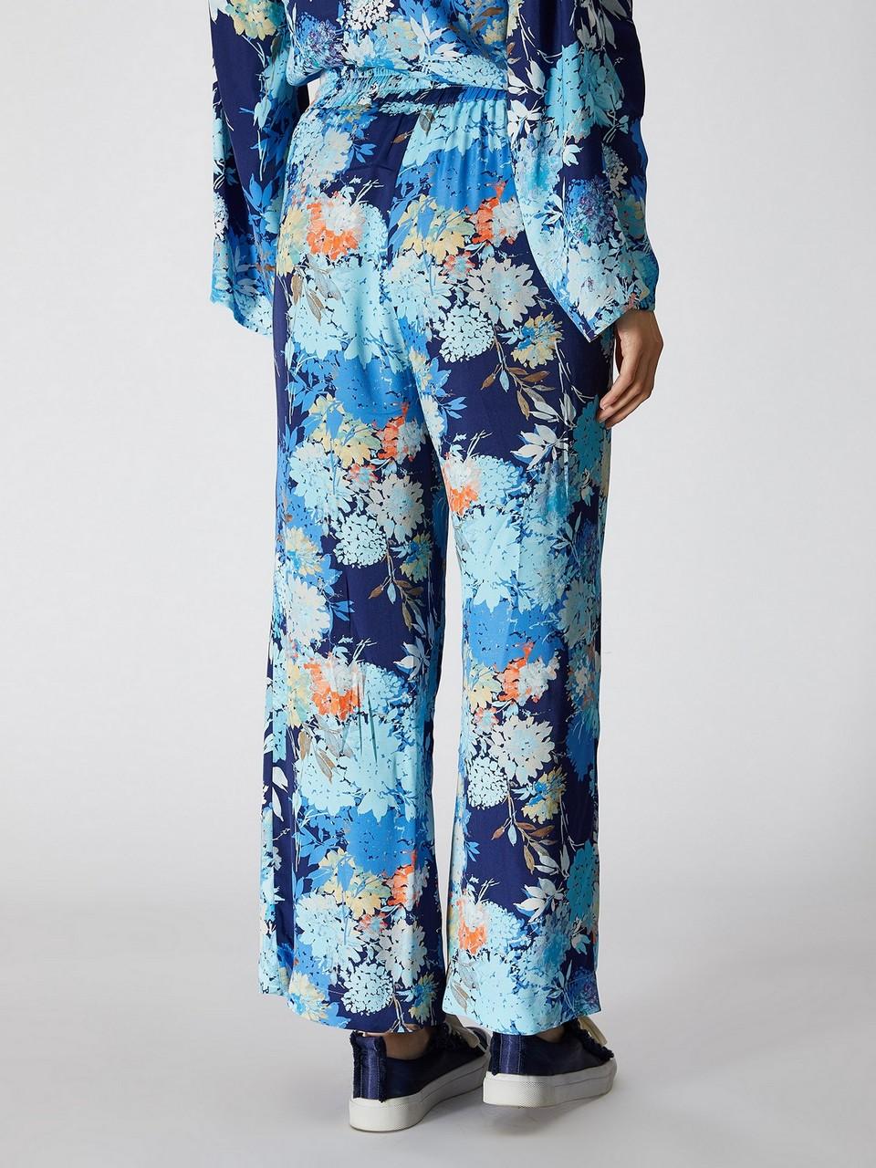 Çiçek Desenli Rahat Kesim Pantolon
