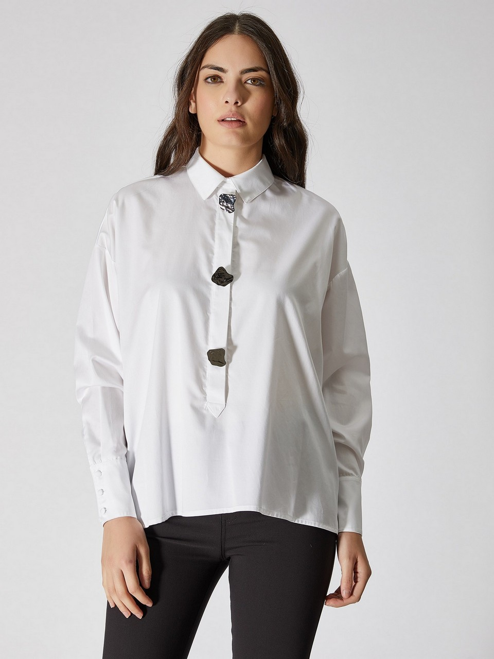 Cotton Shirt With Big Bottons