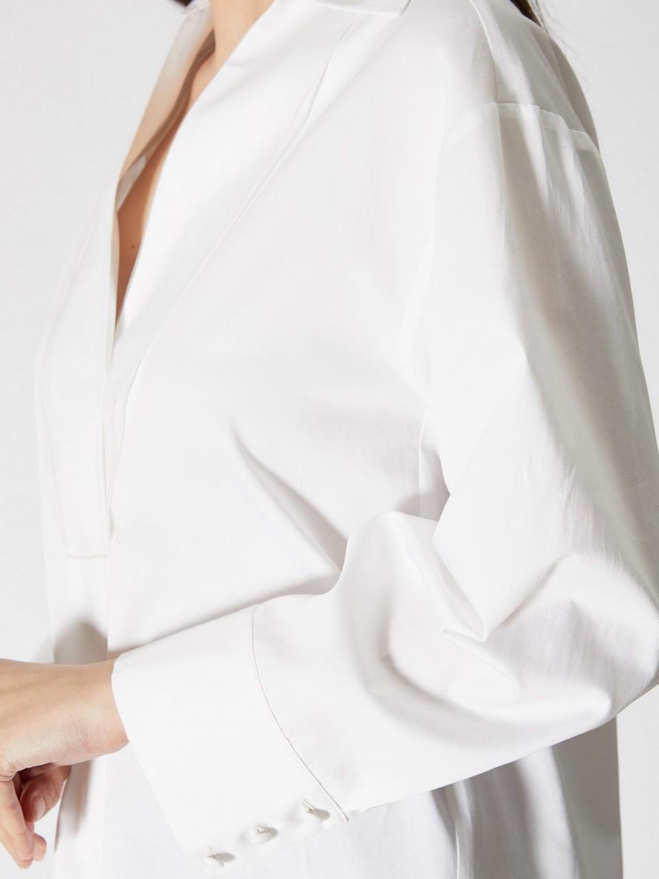 Uzun Kollu Pamuklu Bluz