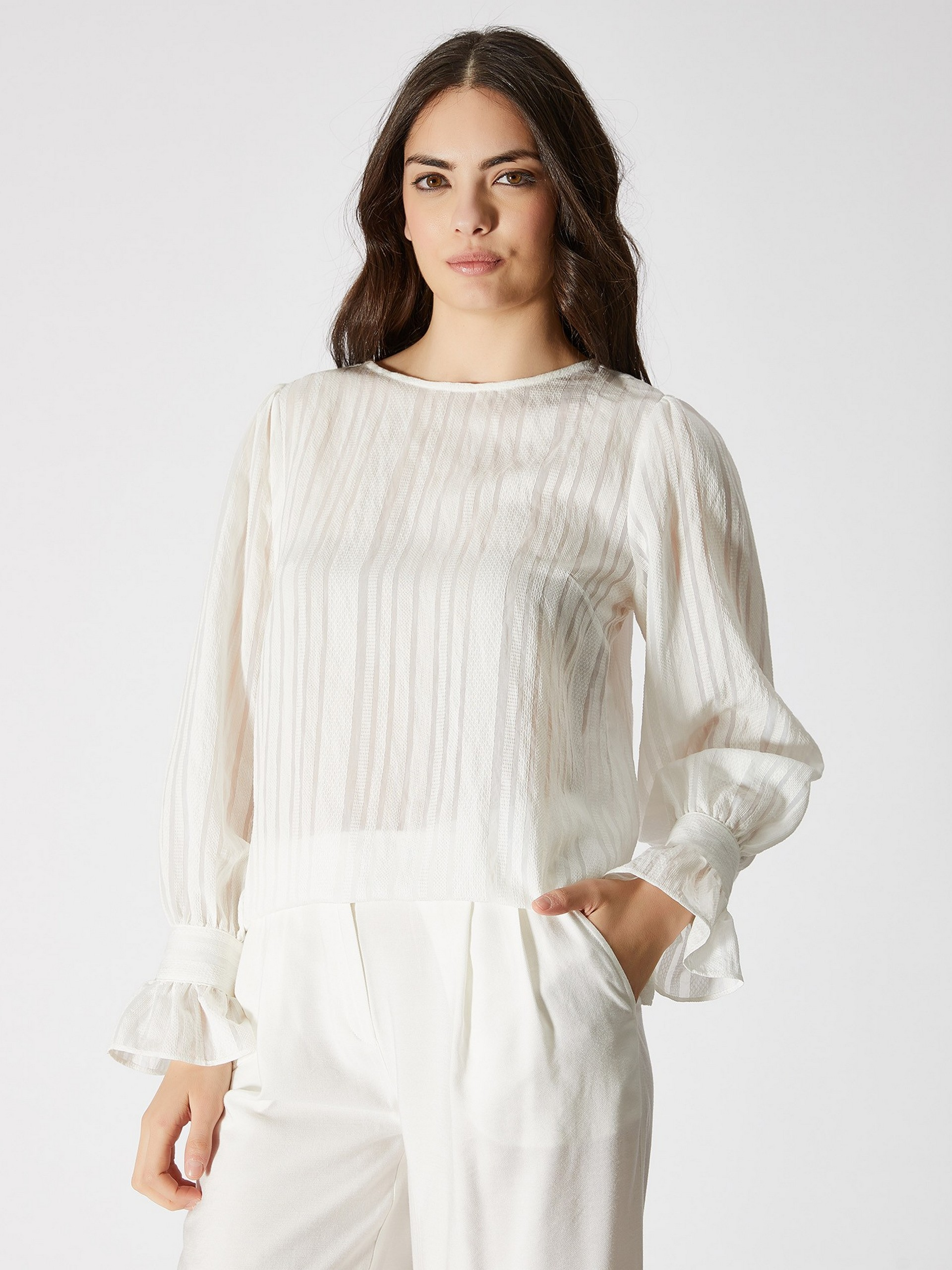Ruffle Detailed Cotton Blouse