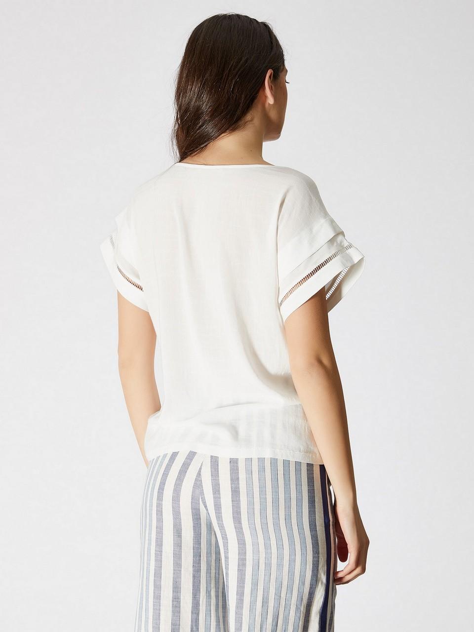 Kayık Yaka Japone Kol Bluz