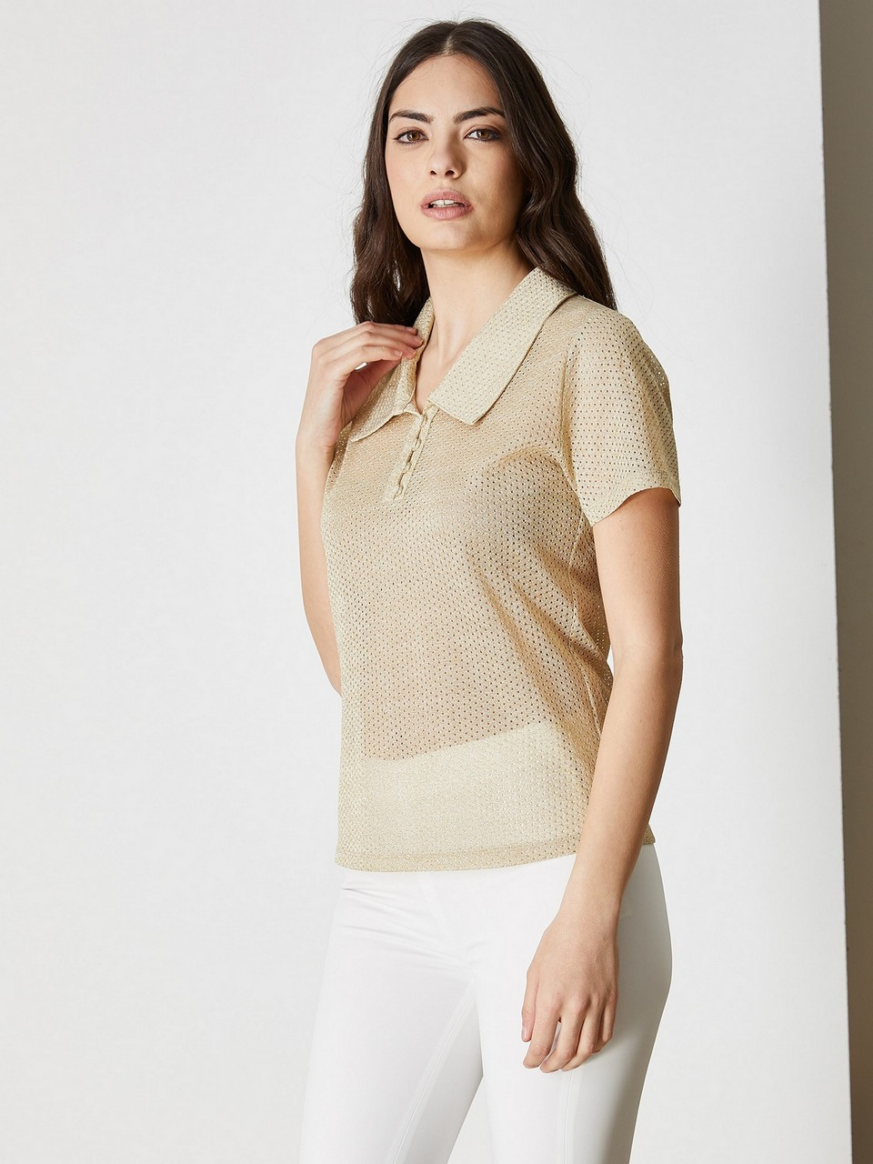 Gömlek Yaka Kısa Kol Bluz