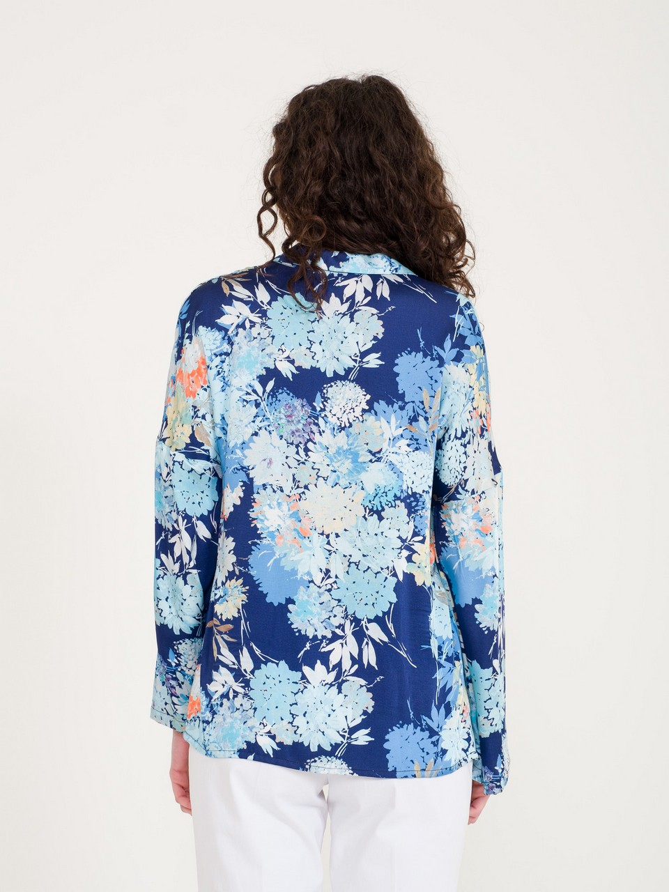 Floral Patterned Loose Cut Blouse