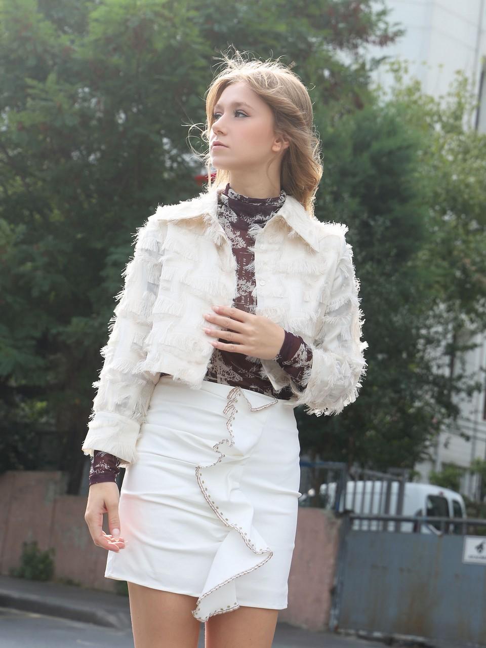 Asymmetric Cut Skirt