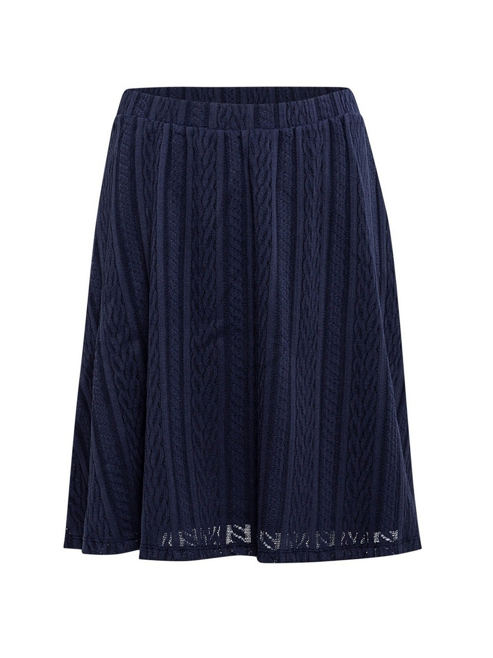 Jacquared Skirt With Elastic Waist