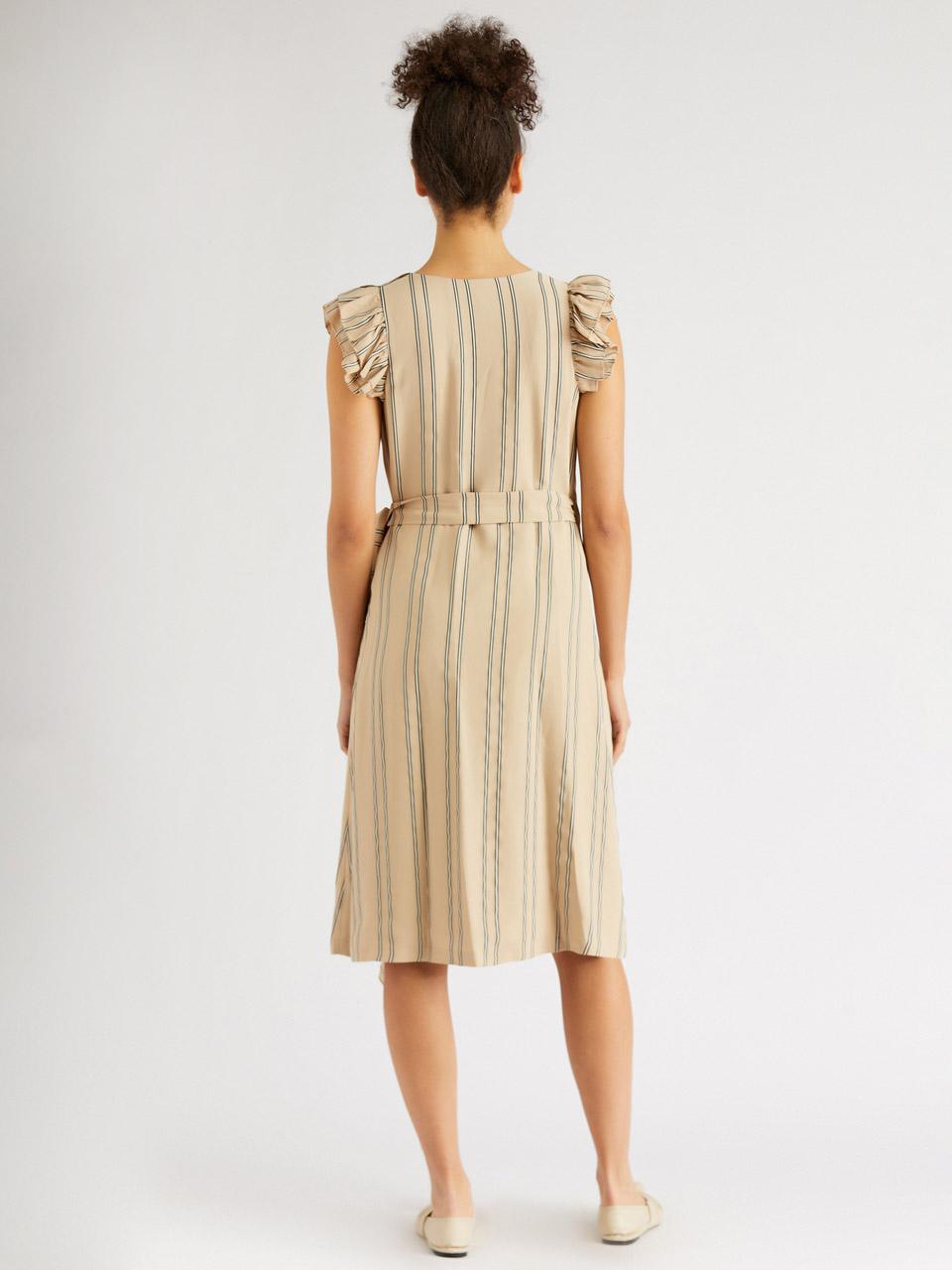 Kolsuz Midi Anvelop Elbise