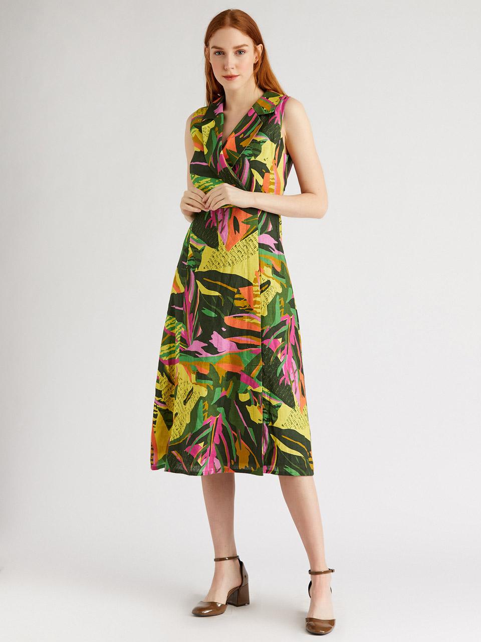 Sıfır Kol Anvelop Elbise
