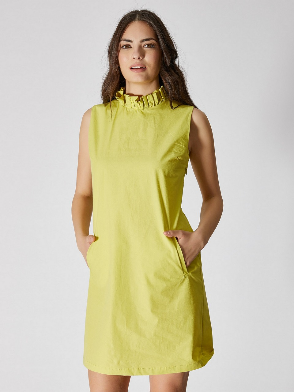 Sleeveless Bow Tie Detailed Mini Dress
