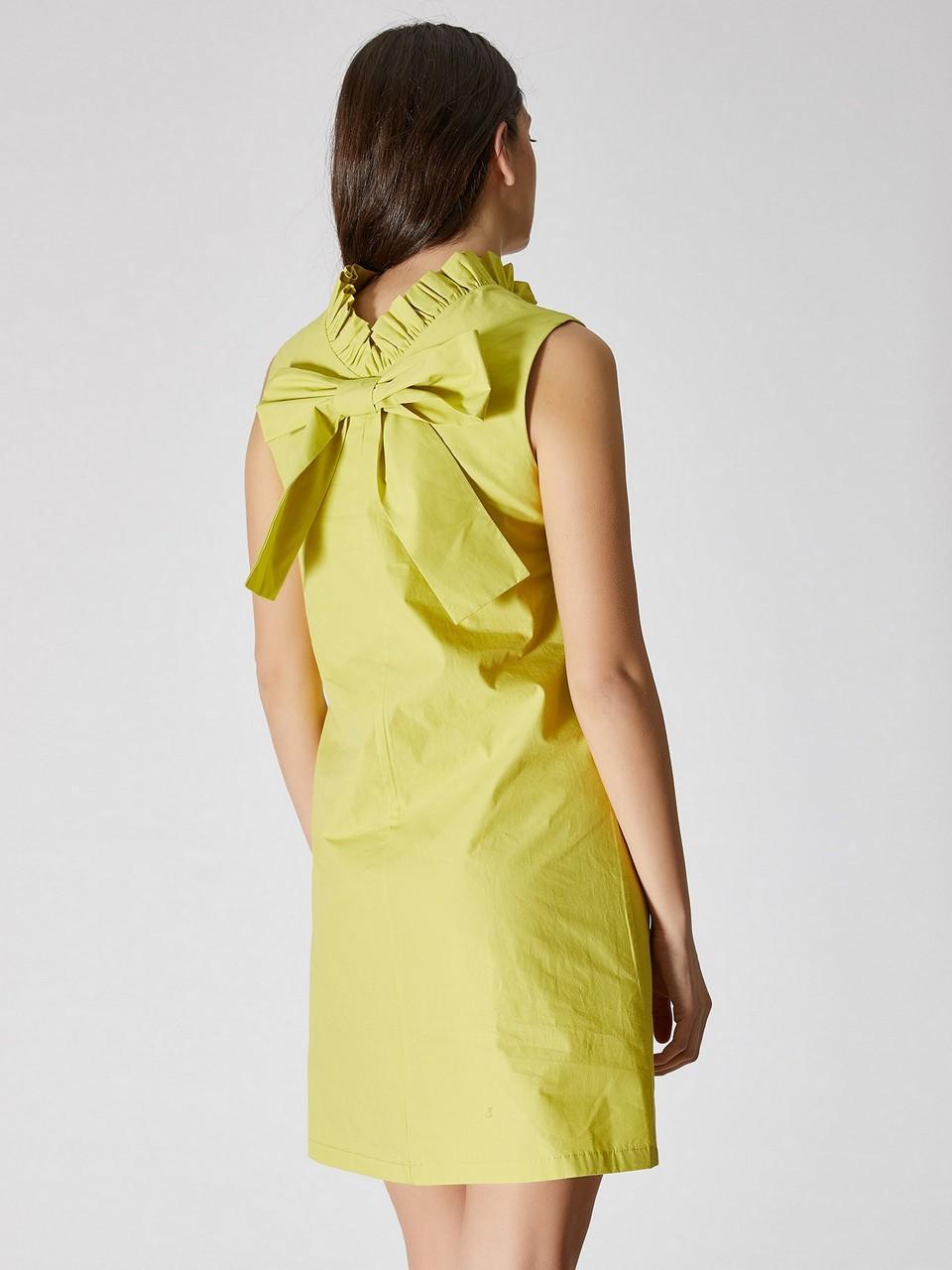 Kolsuz Fiyonk Detaylı Mini Elbise