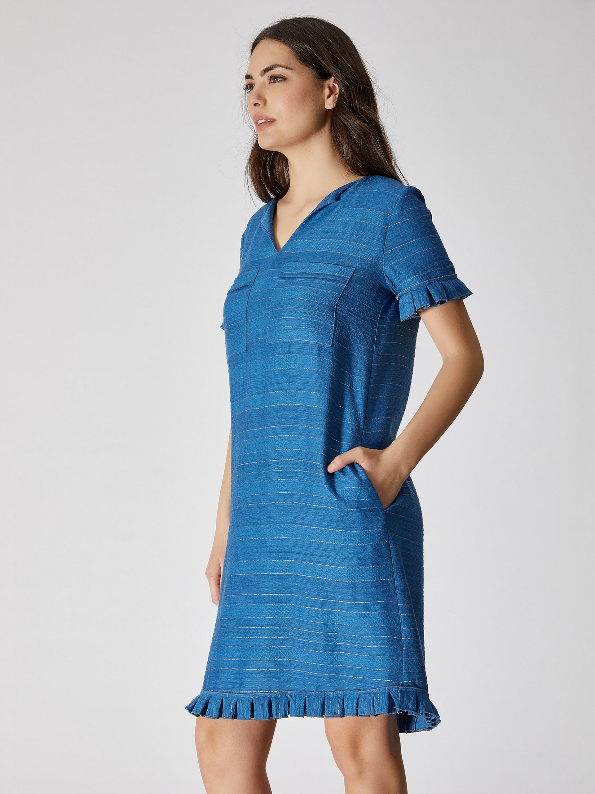 Frilly Detailed Loose Cut Dress