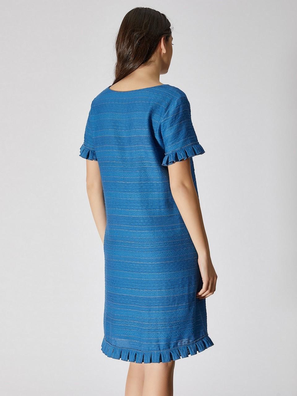 Fırfır Detaylı Rahat Kesim Elbise