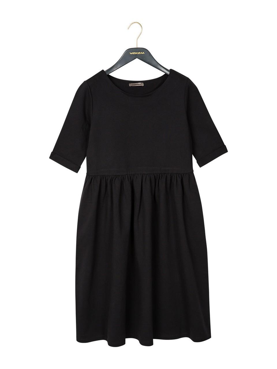 Kayık Yaka Rahat Kesim Elbise