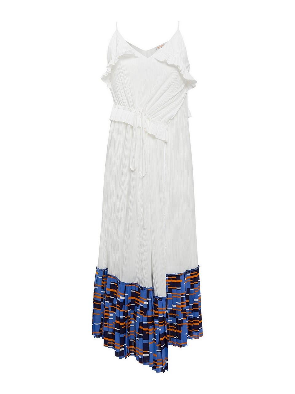 Askılı Asimetrik Kesim Elbise