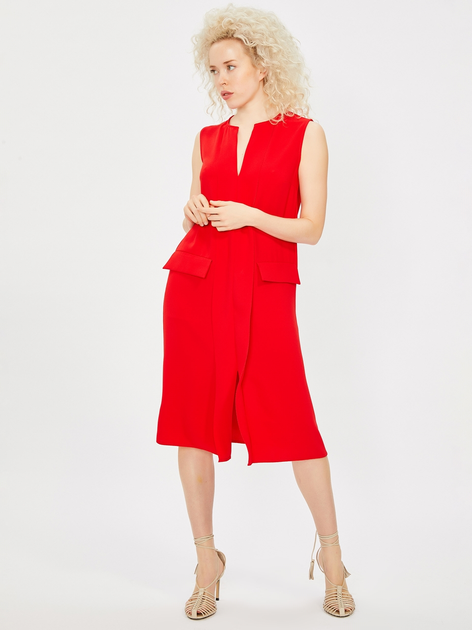 Rahat Kesim Krep Elbise