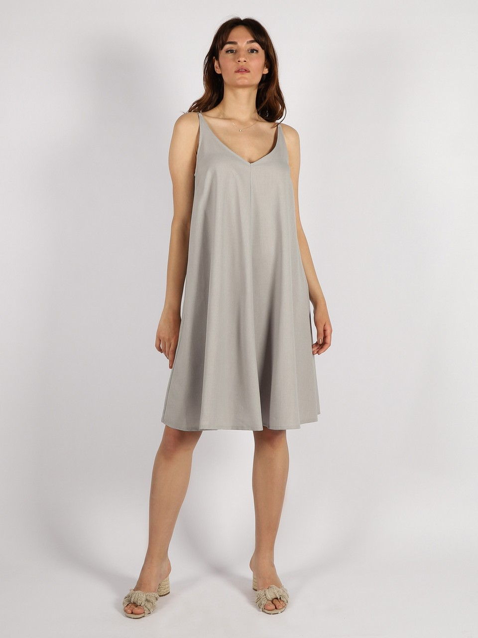 Askılı Rahat Kesim Elbise