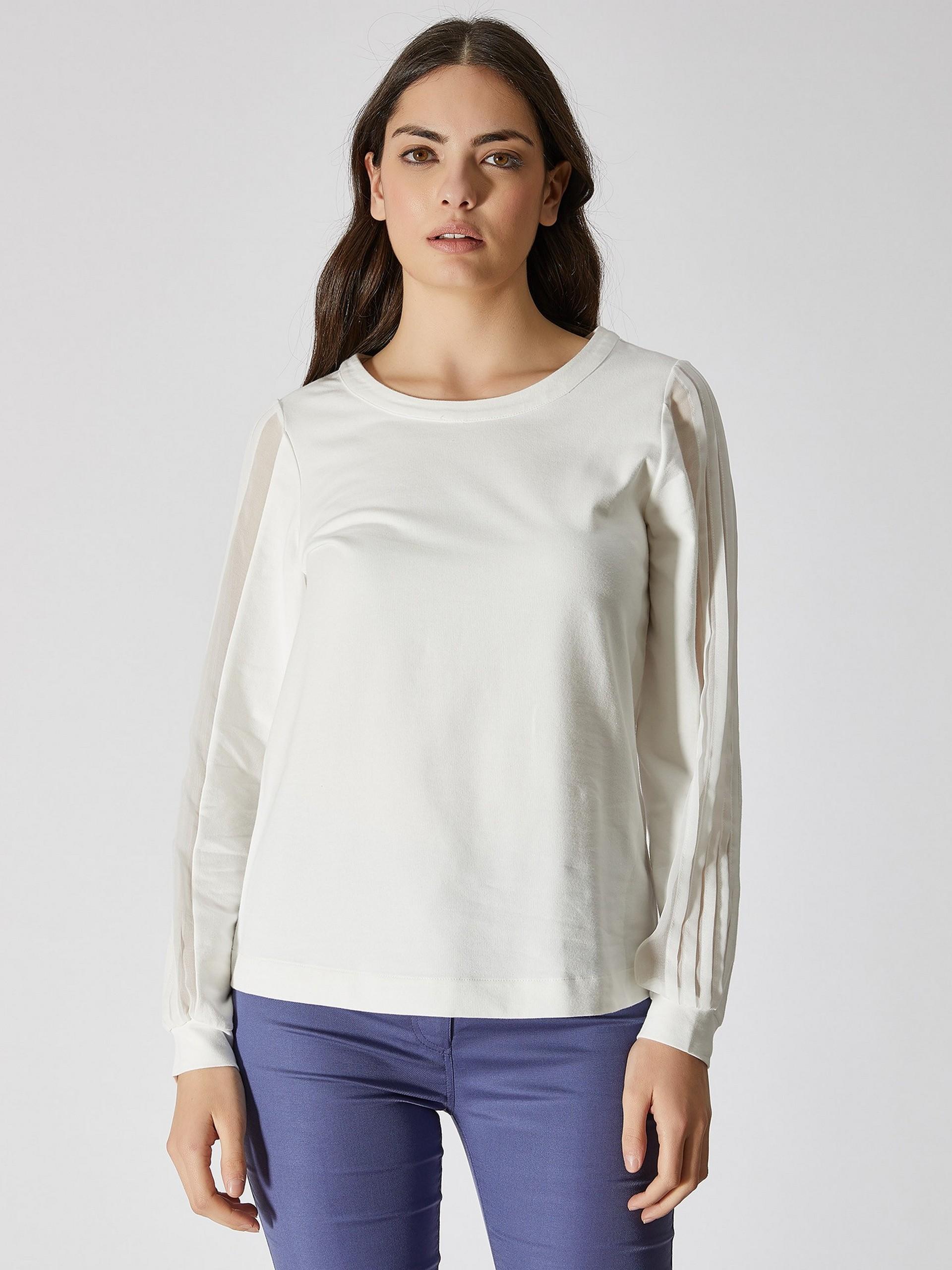 Chiffon Sleeve Detailed Sweatshirt