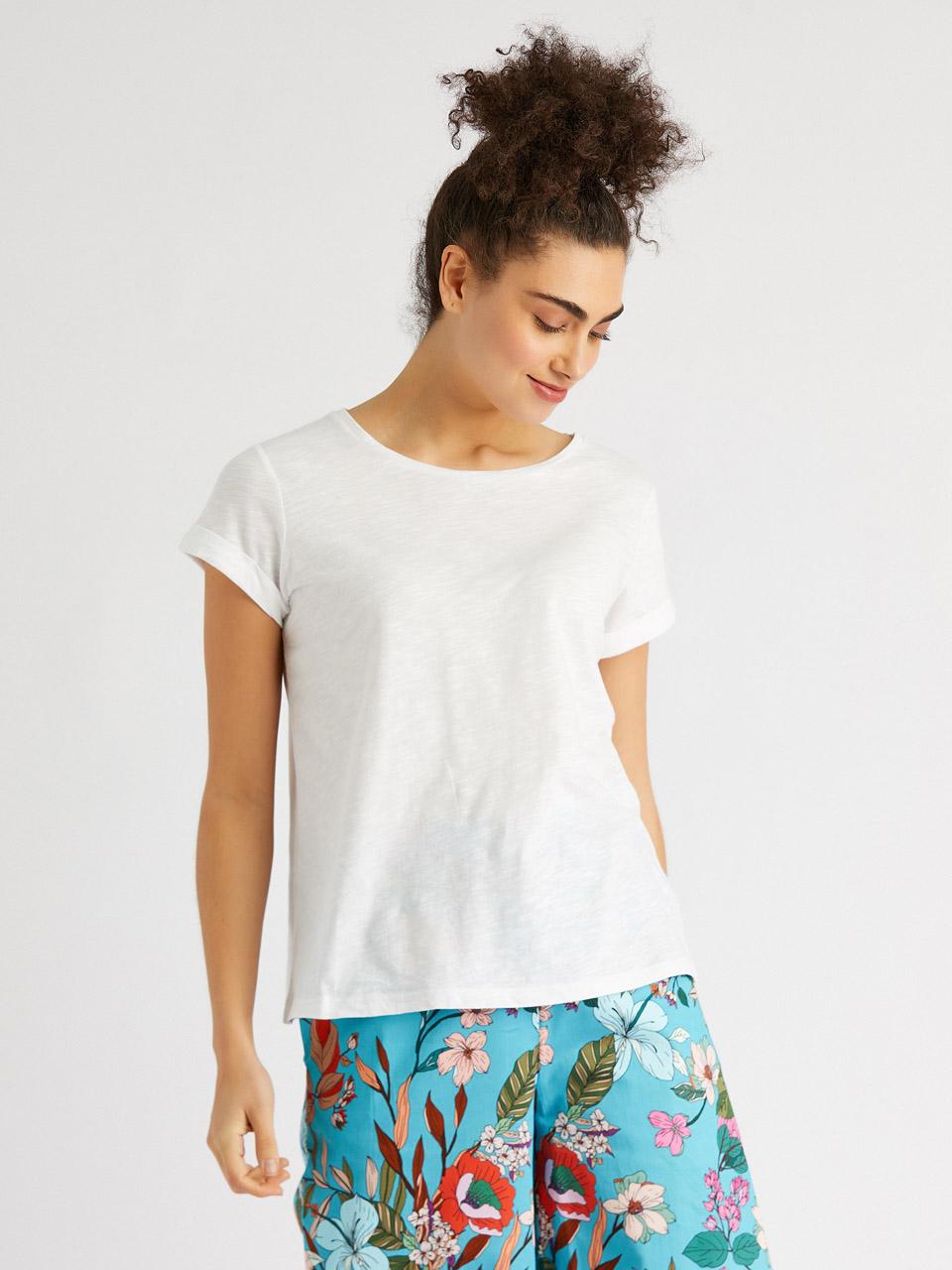 Sıfır Yaka T-Shirt