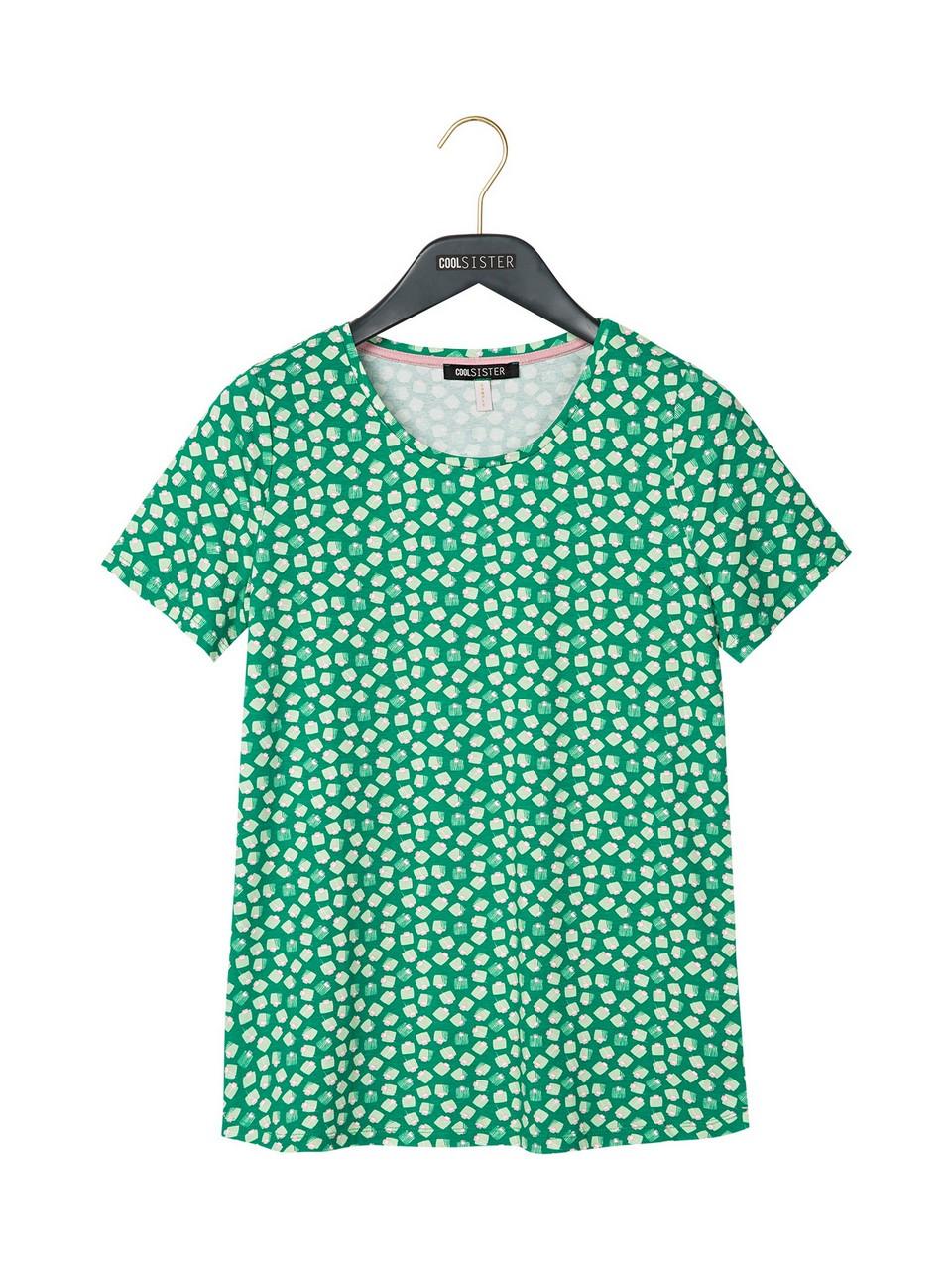 Sıfır Yaka Desenli Tişört
