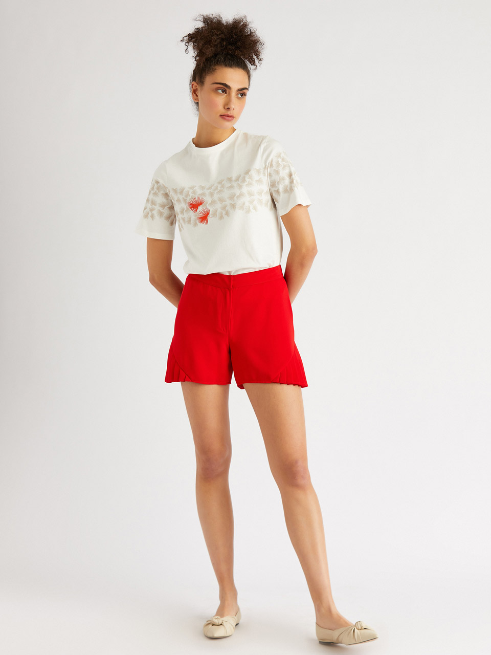 Pleated Detailed Skirt Shorts