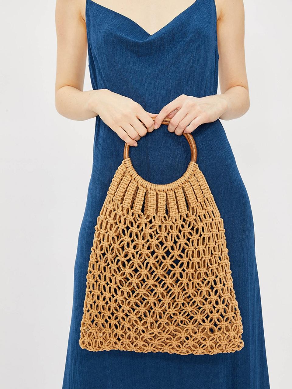 Wooden Knit Bag