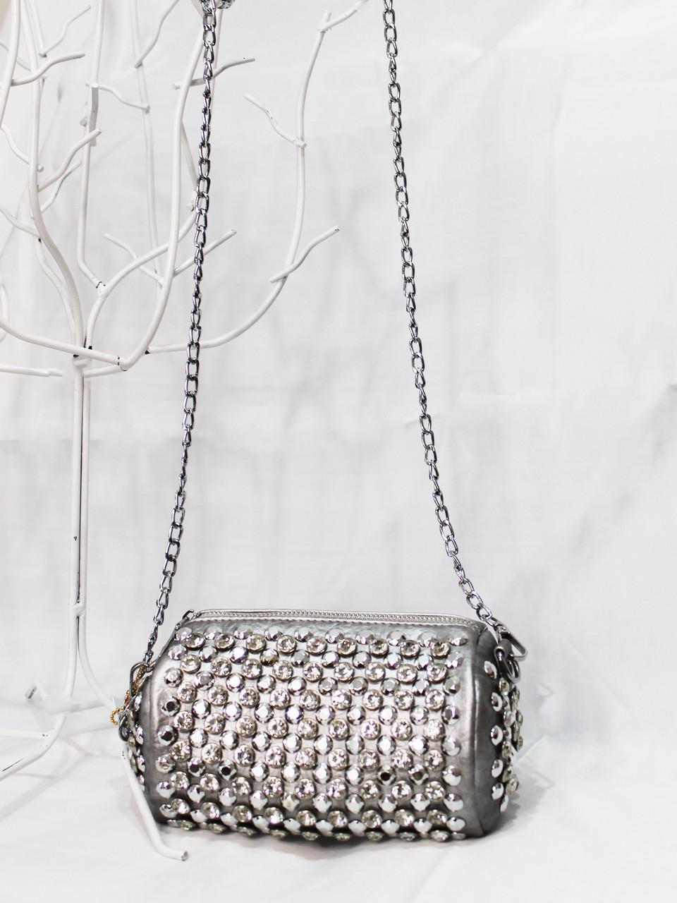 Gümüş Taşlı Çanta