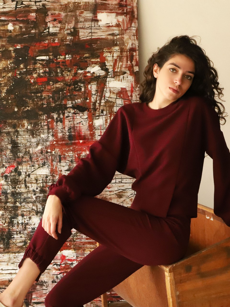 Asymmetric Long Leg Trousers