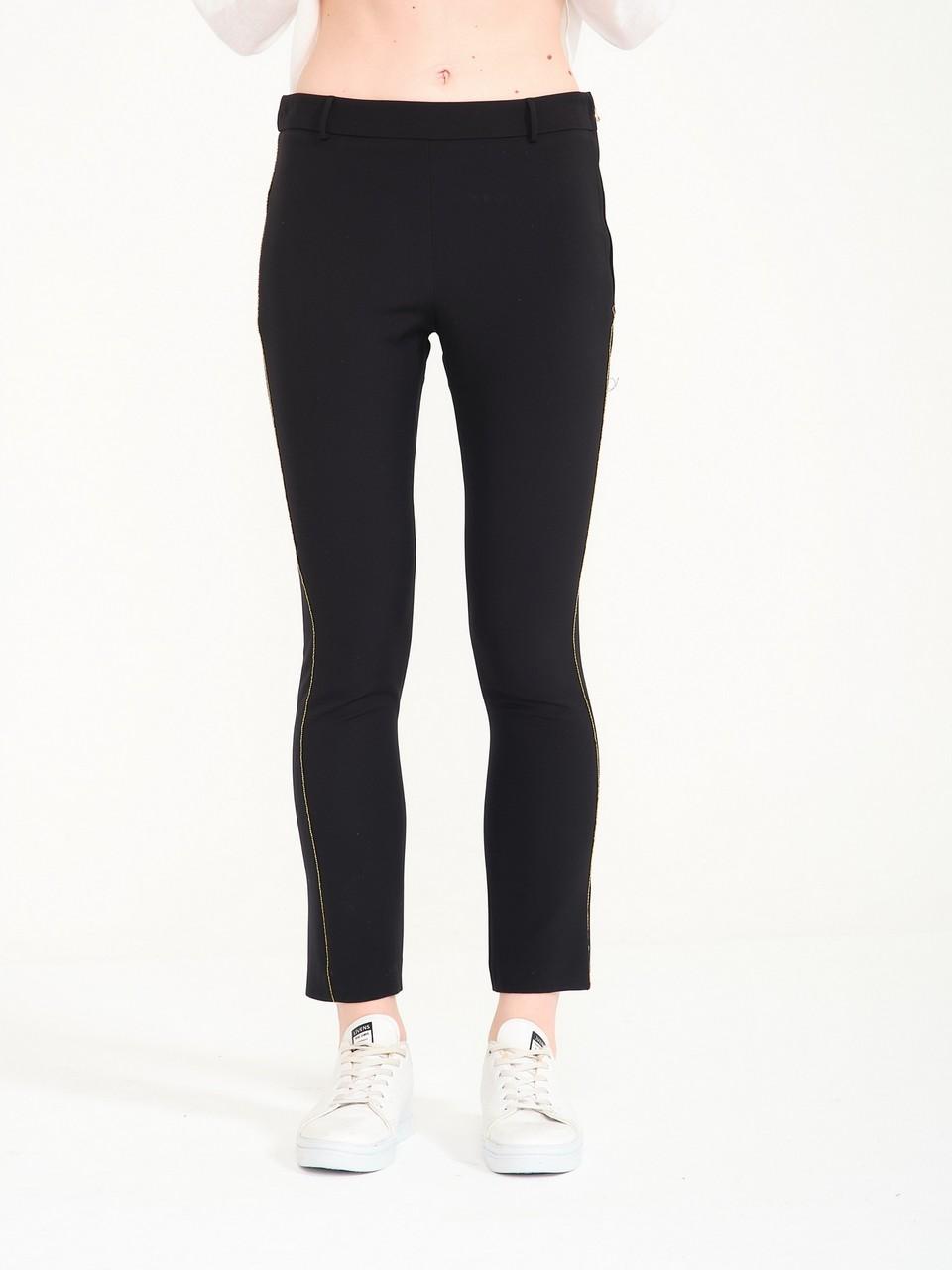 Chain Detailed Elastic Waist Elastic Trousers
