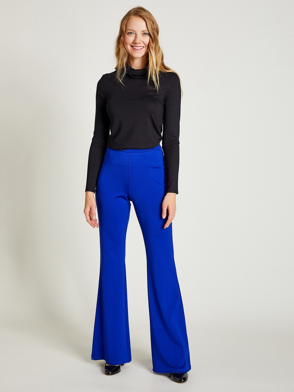 Wide Leg Elastic Waist Trousers