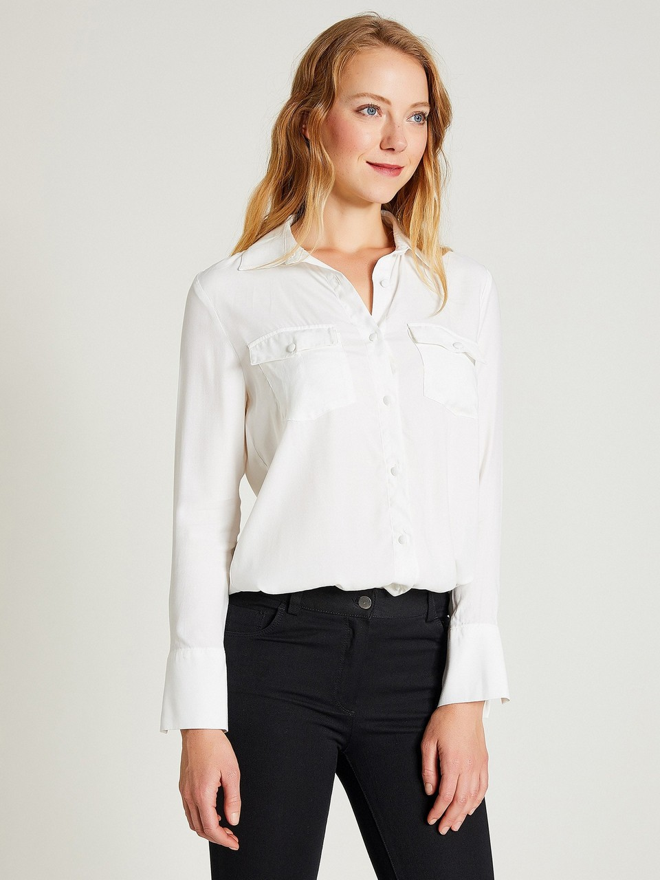 Jacquared Shirt with Double Pocket