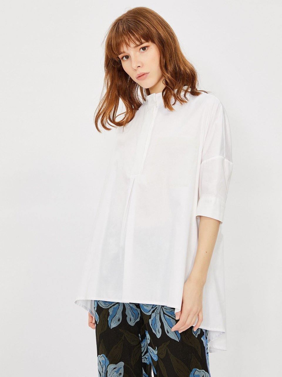 Comfortable Cut Cotton Shirt