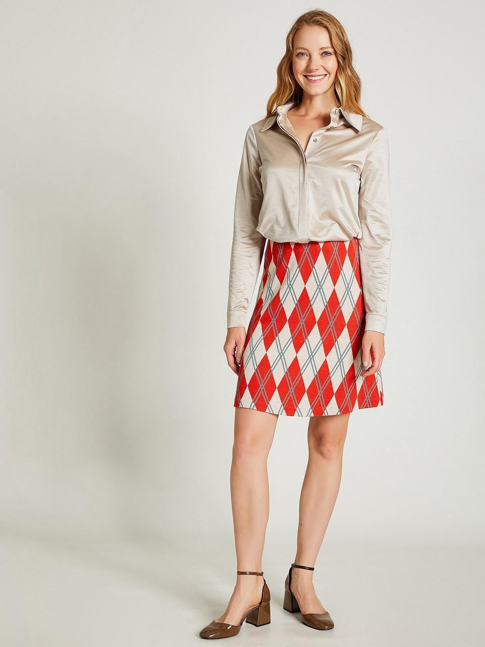 Ecosse Patterned Mini Skirt