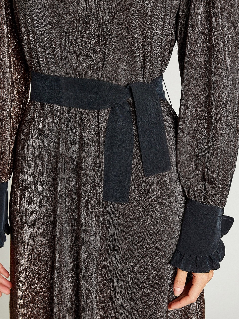 Silvery Loose Fit Dress