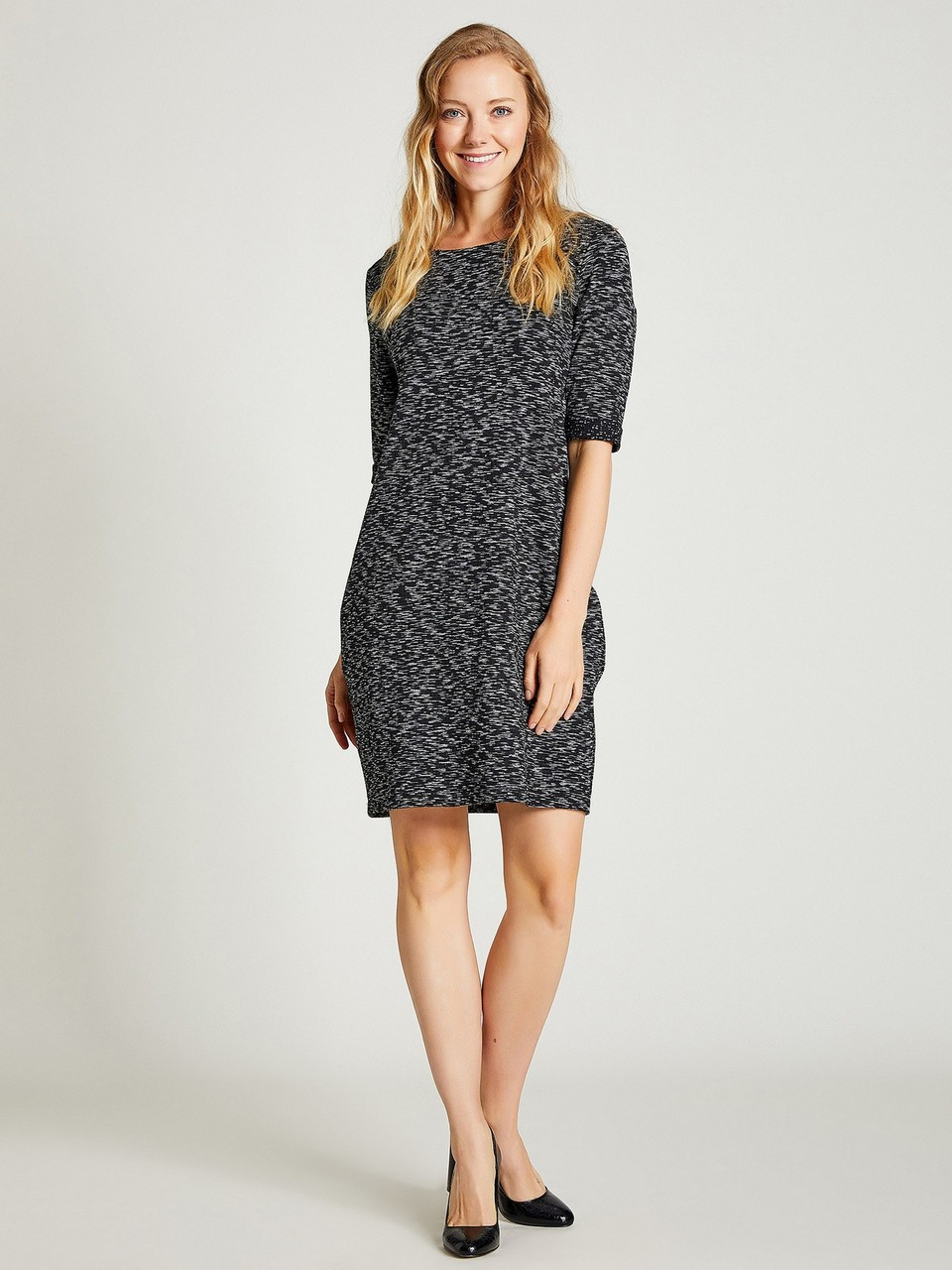 Jaquared Loose Fit Dress