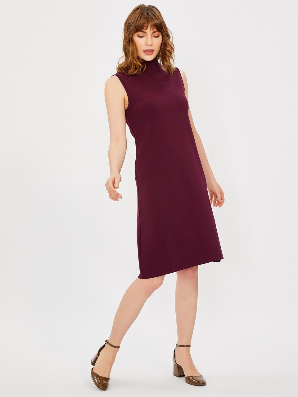 Sleeveless Half Turtleneck Dress