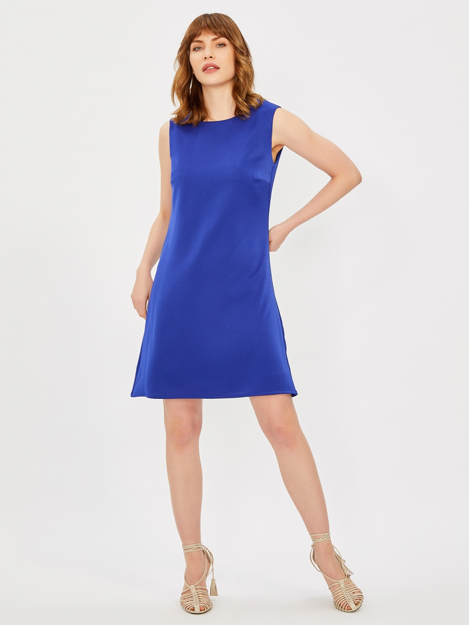 Sleeveless Classic Cut Crep Dress