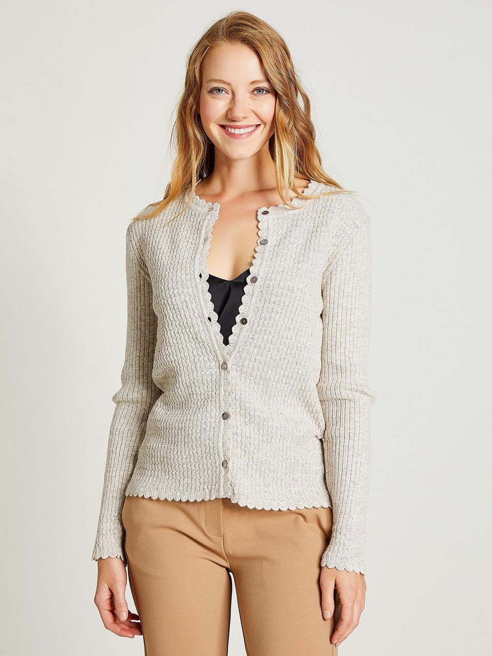 Long Sleeve Woolen Cardigan