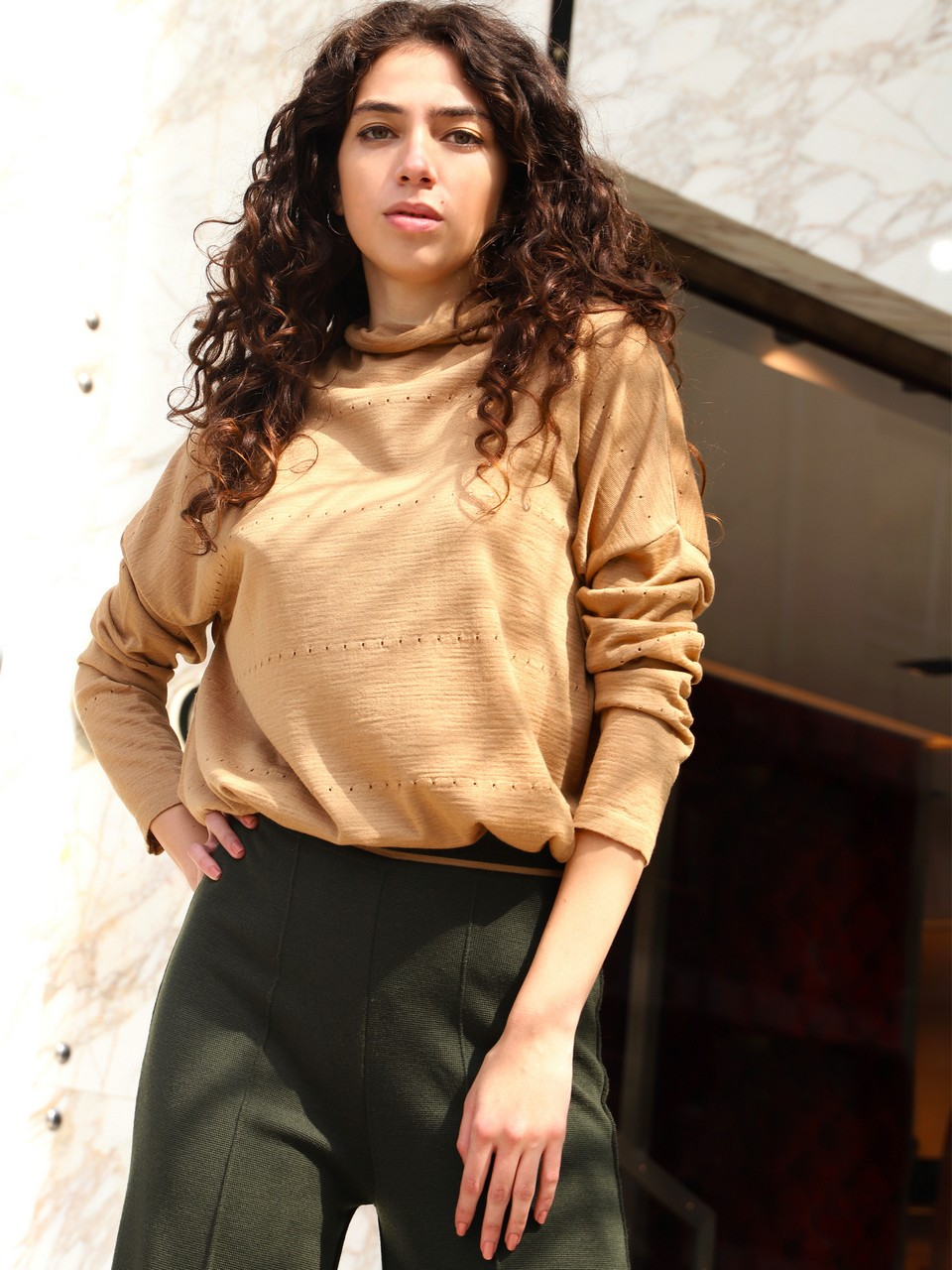 Turtleneck Long Sleeve Knitwear