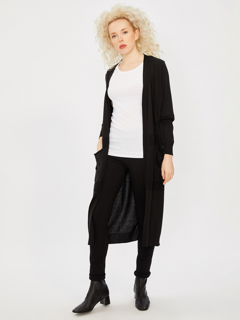 Lurexli Long Knitwear Cardigan