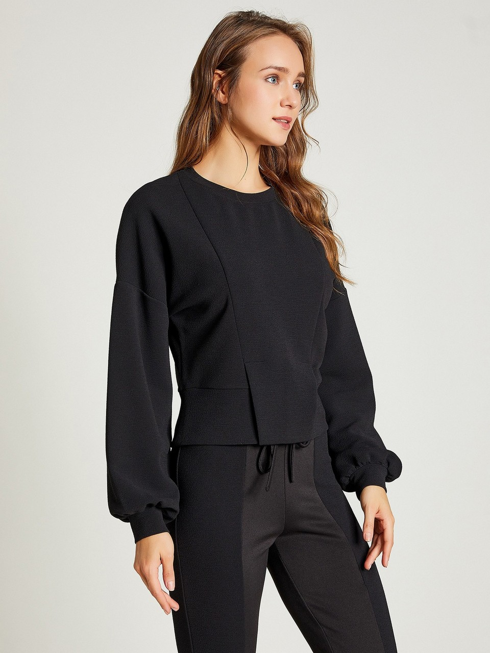Pleated Sweatshirt